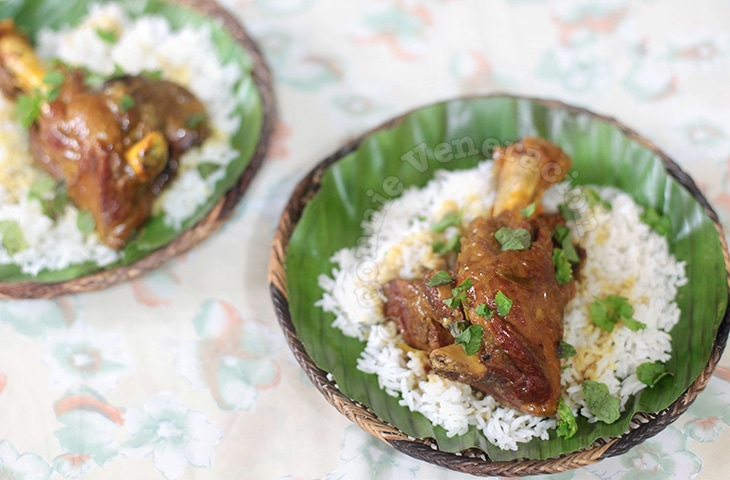 Lamb Shank Curry With Coconut Sauce