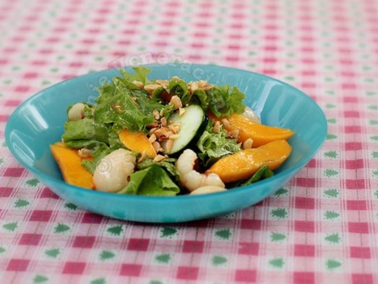 Lettuce, Lychee and Mango Salad