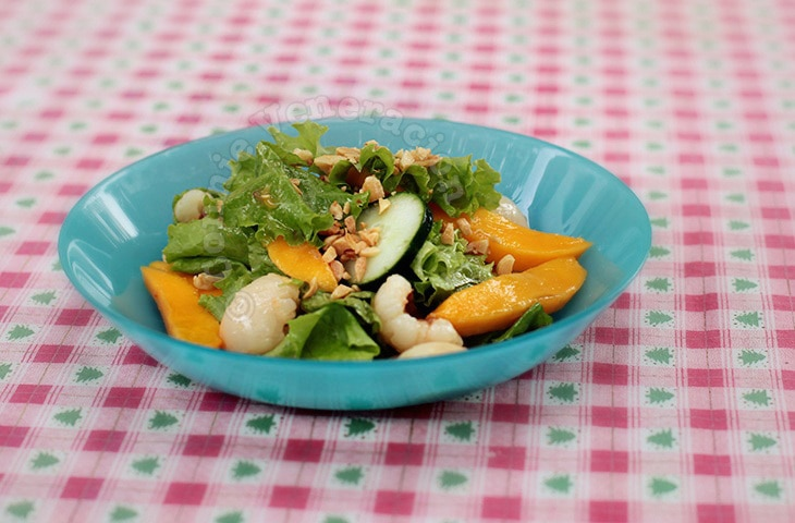 Lettuce Lychee And Mango Salad