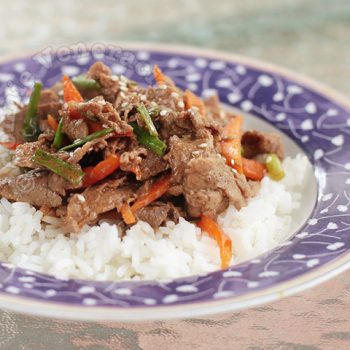 10-minute Beef and Pepper Teriyaki