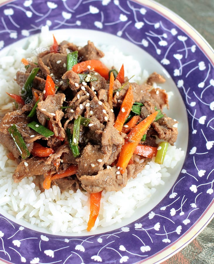 Beef and Pepper Teriyaki