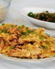 Crisp-fried Chicken With Pineapple Sauce