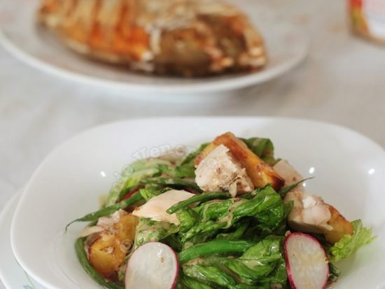 Chicken Potato Salad With French Beans