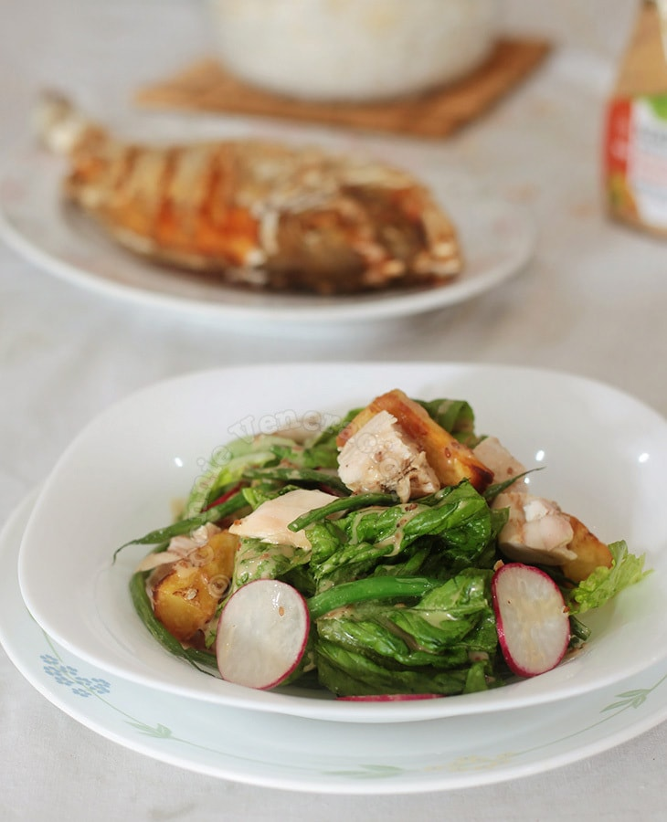Chicken Potato Salad With French Beans | casaveneracion.com
