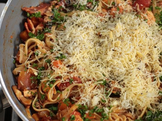 Toss Cooked Pasta in Leftover Stew
