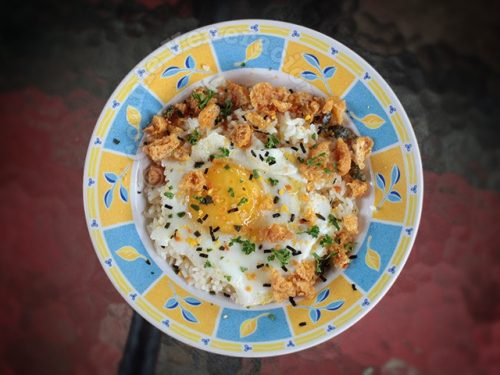Salted Egg Chicharon Fried Rice