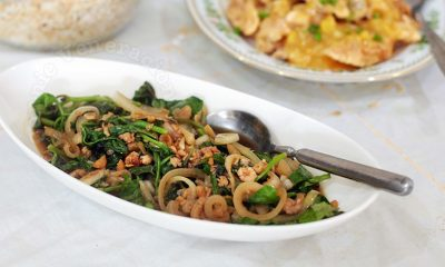 Sautéed Spinach With Dried Shrimps