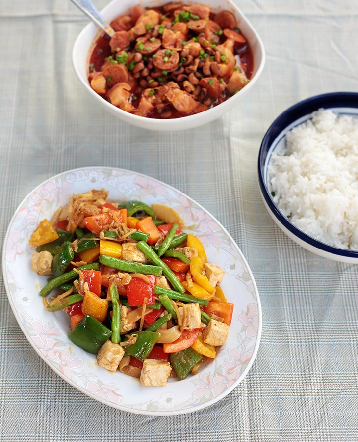 Stir-fried Tofu and Bell Pepper