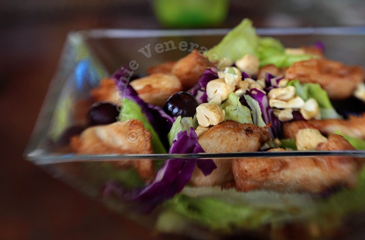 Oriental chicken salad at Rowena's, Tagaytay City