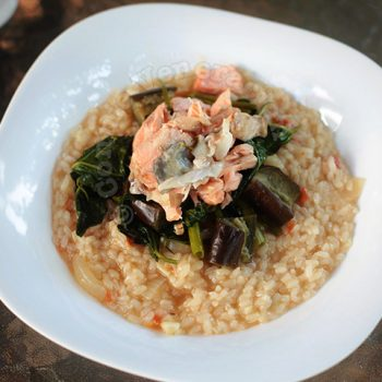 Alex's Salmon Sinigang Risotto