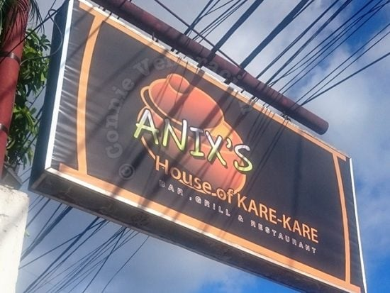 At Anix's House of Kare-kare, the Crispy Pata is Great!