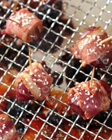 Bacon-wrapped Chicken Livers