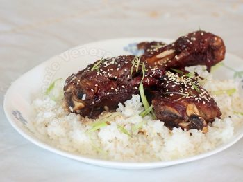 Lamb Shanks Braised in Spicy Teriyaki Sauce