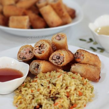 Pork and Mushrooms Spring Rolls