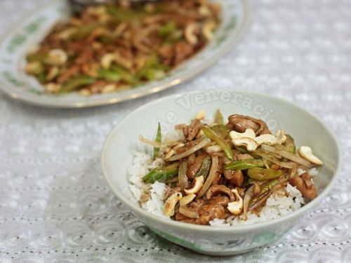 Chicken Celery Stir Fry With Cashew Nuts