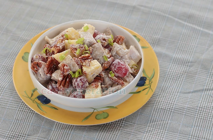 Chicken Salad With Pecans, Grapes and Pineapple   casaveneracion.com
