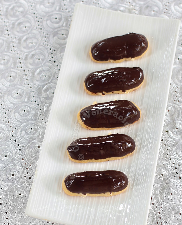 Dark Chocolate Eclairs