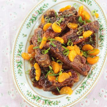Pork Spare Ribs With Sticky Orange Sauce
