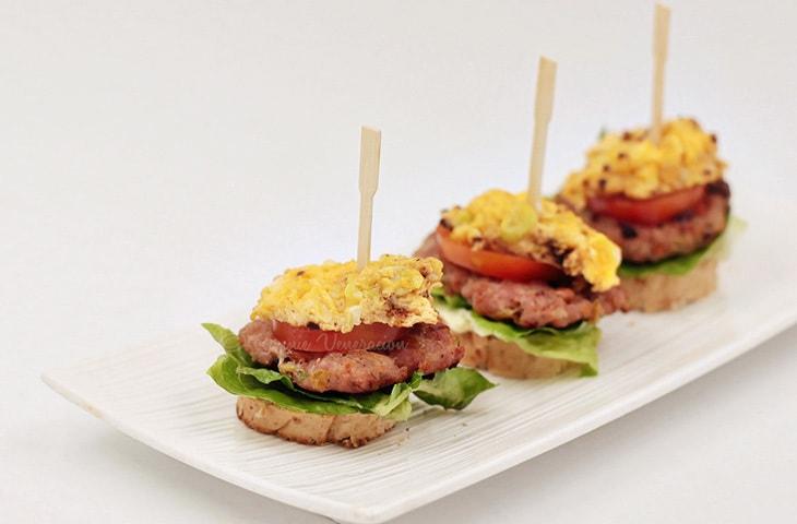 Burger and Egg Canapés