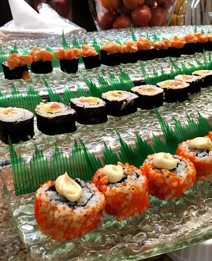 Culinary School Graduation: Legacy Buffet: sushi