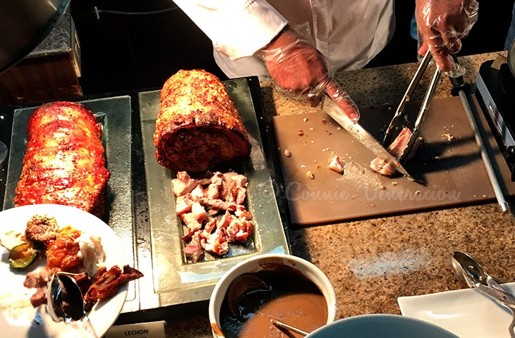 Culinary School Graduation: Legacy Buffet: roast beef and lechon belly