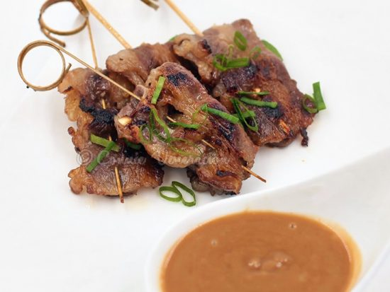 Cocktail-sized Beef Satay