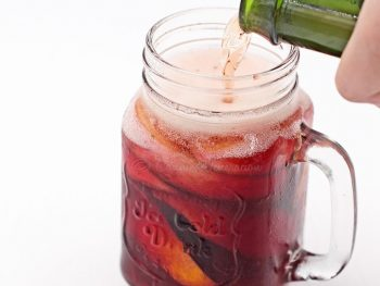 Sangria With Sparkling Juice
