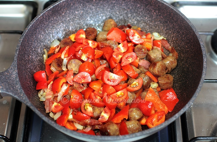 Italian-style Sausage, Bell Peppers and Onions