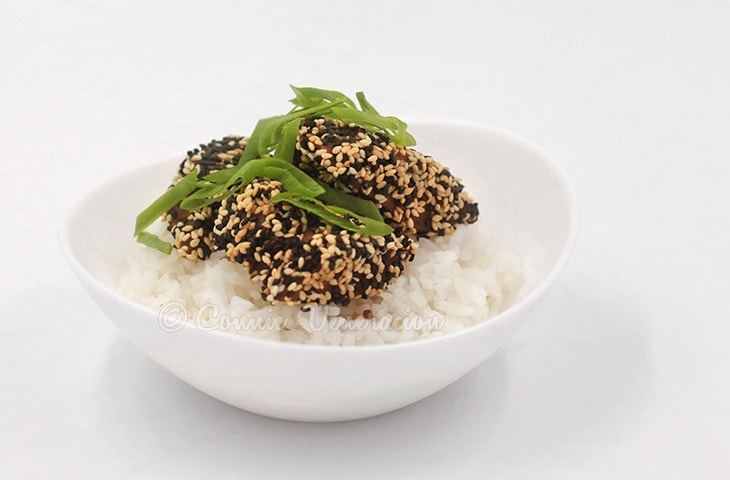 how to cook fish with sesame seeds