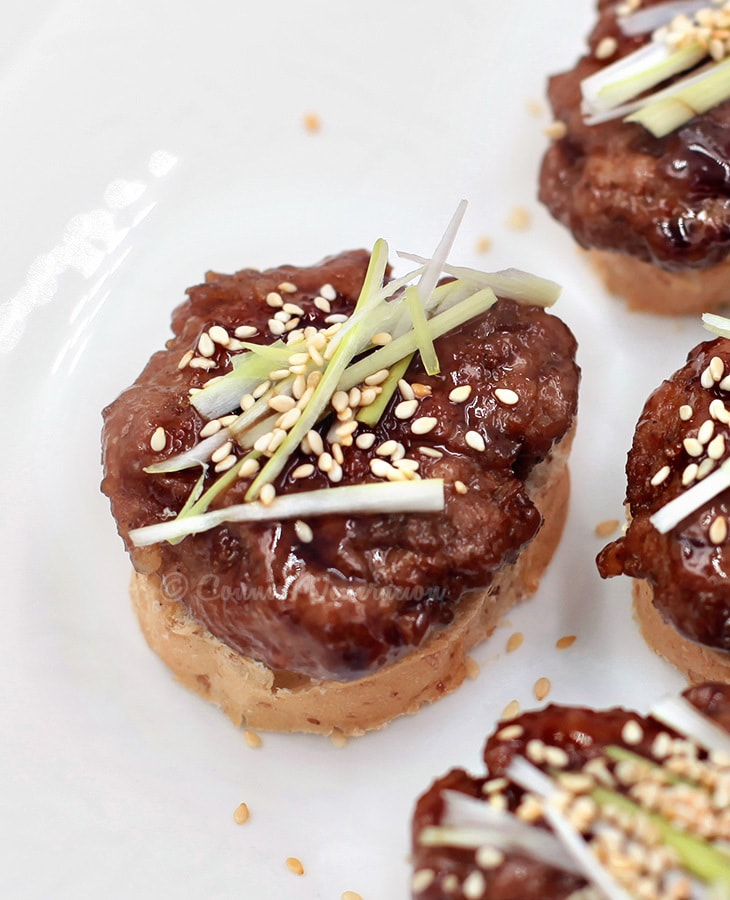 Teriyaki Orange Mini Burgers