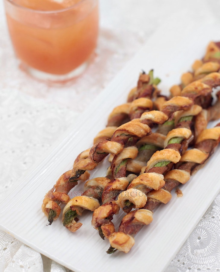 Bacon Puff Pastry Asparagus Spirals