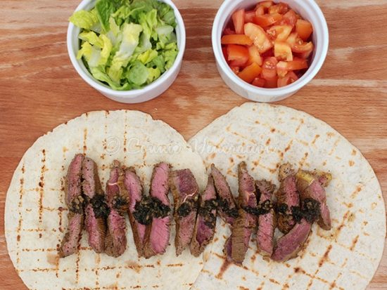Beef Tenderloin and Chimichurri Verde Tacos