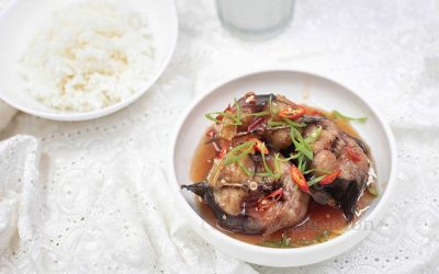 Vietnamese-style Catfish Braised in Caramel Sauce