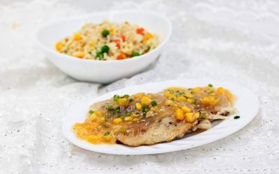 Chinese-style Fish Fillet With Sticky Corn Sauce