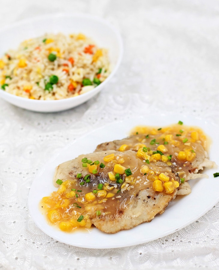 Chinese style fish fillet with sticky corn sauce casa for Fish fillet sauce