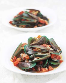 Mussels & Chorizo in Ginger Ale