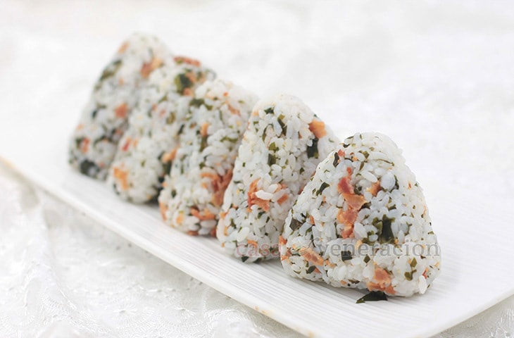 Crispy Bacon, Wakame and Sesame Onigiri