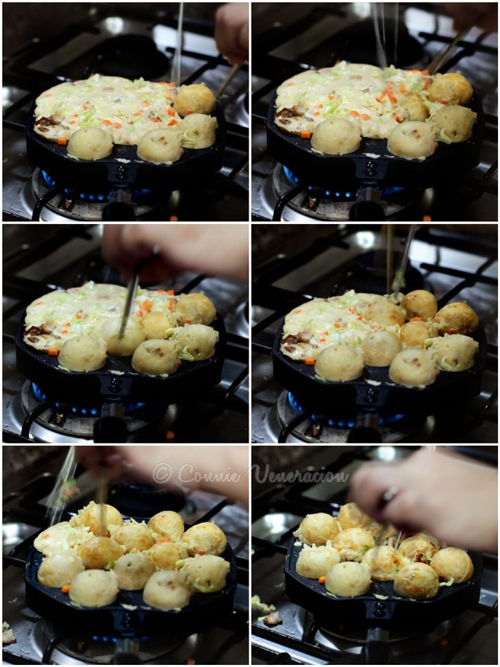 How to cook takoyaki on the stovetop