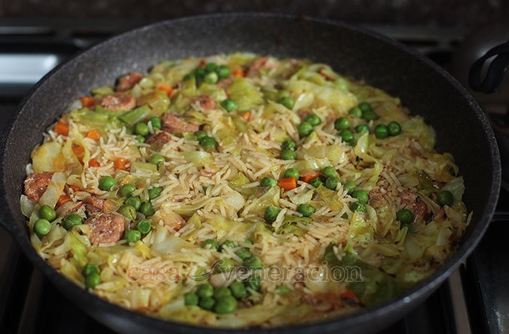 How to Cook Arroz con Chorizo (Rice with Sausage)