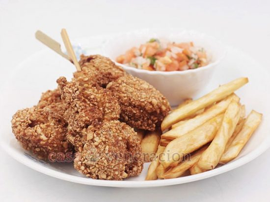 Alex's Nut-crusted Fried Chicken On A Stick