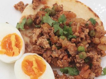 Ground pork is substituted for cubed pork belly to cook ground pork menudo. If beef were used, it would be Mexican picadillo and, for Filipinos, the meat component of arroz a la Cubana.