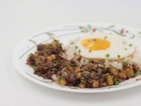 Pork Adobo Hash (Cooked With Scrap Meat)
