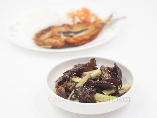 Wood Ear Mushrooms and Cucumber Salad, Chinese-style