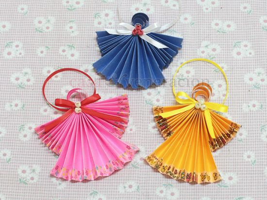 Origami Angels To Hang On Your Christmas Tree