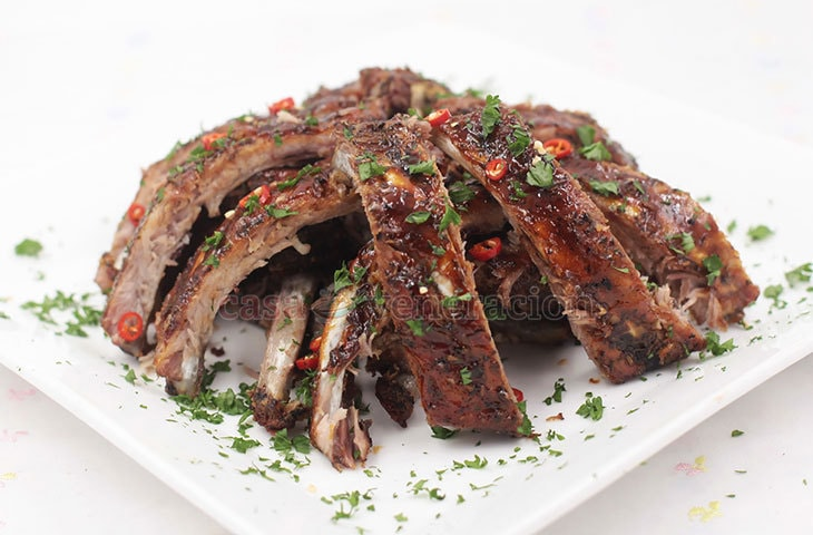 A whole turkey not enough to feed everyone? Serve this brown sugar glazed Cajun pork spare ribs as a second main dish! Easy and delicious!