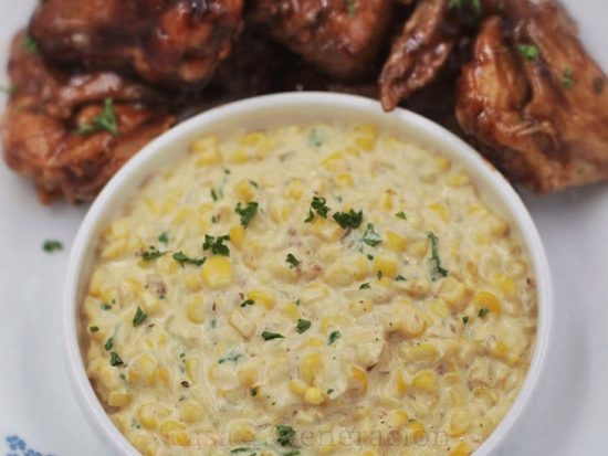 Herbed Creamed Corn With Parmesan