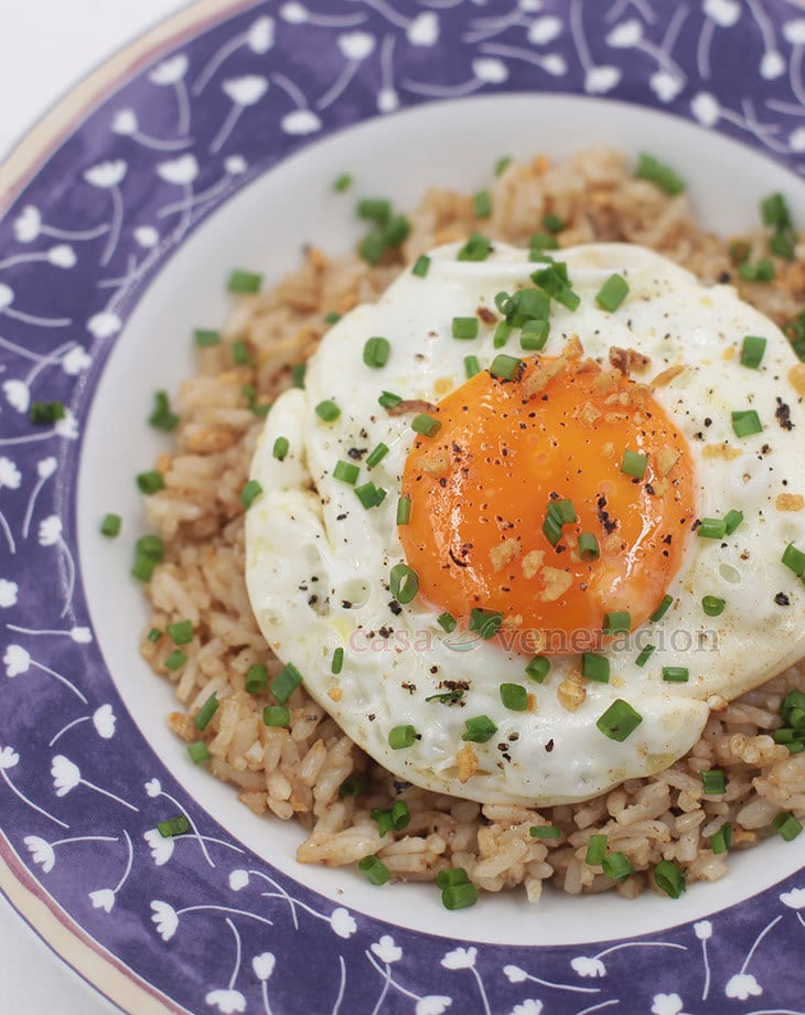 Plain rice is magically transformed with a little demi-glace
