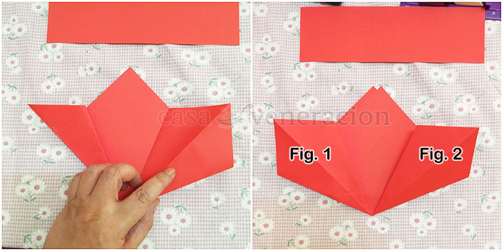 How To Make Origami Poinsettia