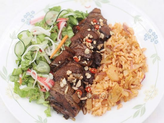 Alex's Asian Pot Roast With Sam's Citrusy Salad and My Kimchi Rice