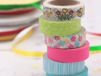 Washi tapes come in solid color or with printed pattern. Use it to decorate crafts and ornaments for any occasion including Christmas, Valentine and Easter.